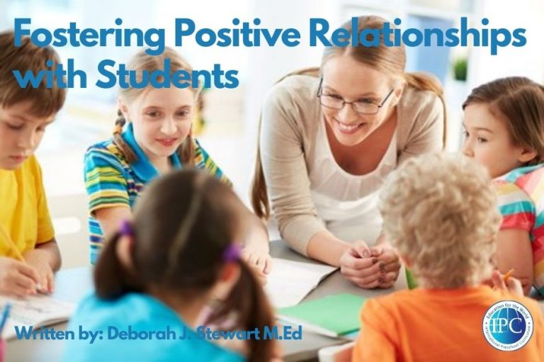 Fostering Positive Relationships with Students