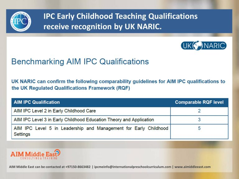 UK NARIC and IPC Qualifications